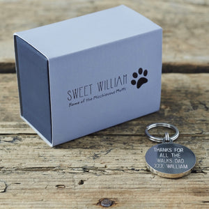 """Future Crufts Winner"" Dog Collar Tag - La Di Da Interiors"