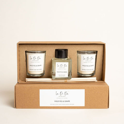 La Di Da Scented Gift Set - Votive Candles and Diffuser