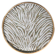 Load image into Gallery viewer, Round Zebra print tray