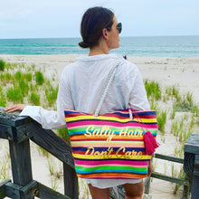 Load image into Gallery viewer, Salty Hair Don't Care Tote with Tassels - Just Jamie