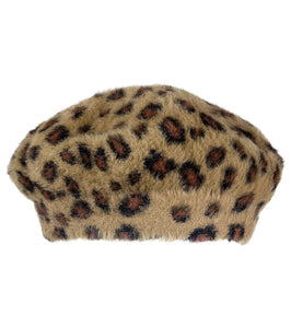 Leopard Beret Hat - Just Jamie