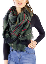 Load image into Gallery viewer, Plaid Blanket Wrap - Just Jamie