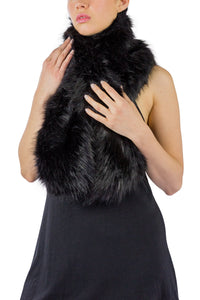 Faux Fur Pull Through Scarf - Just Jamie