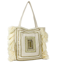 Load image into Gallery viewer, Sequin Canvas Tote with Tassel Ends - Just Jamie
