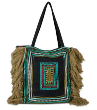 Load image into Gallery viewer, Boho Canvas Tote with Frayed Sides - Just Jamie