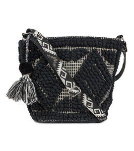 Geometric Textured Crossbody Bag - Just Jamie