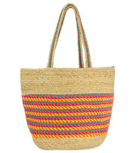 Load image into Gallery viewer, Multicolor Jute Tote - Just Jamie