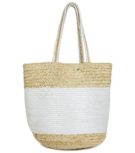 Multicolor Jute Tote - Just Jamie