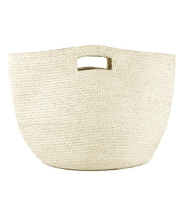 Metallic Lurex Cut Out Handle Tote - Just Jamie