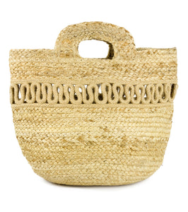 Cut Out Jute Bag - Just Jamie