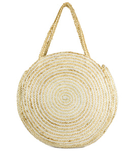 Oversized Circle Jute Tote - Just Jamie