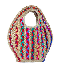 Load image into Gallery viewer, Petite Stripe Jute Bag - Just Jamie