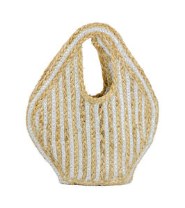 Petite Stripe Jute Bag - Just Jamie