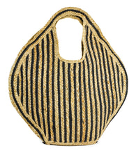 Load image into Gallery viewer, Oversized Striped Jute Beach Tote Bag - Just Jamie