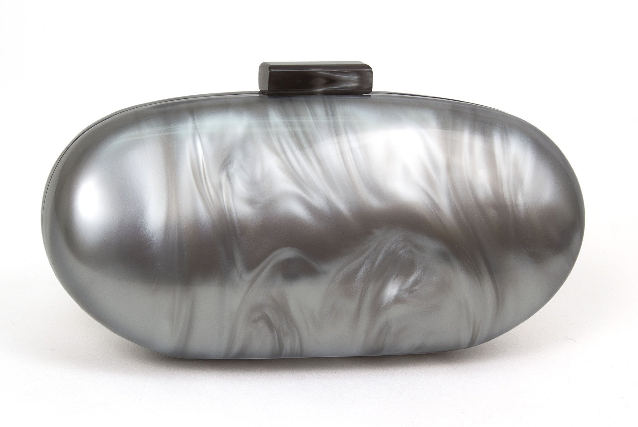 Pearl Oval Lucite Clutch Evening Handbag - Just Jamie