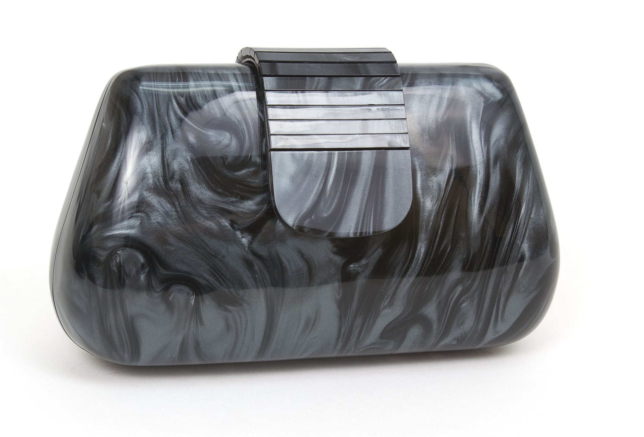 Pearl Lucite Clutch Evening Handbag - Just Jamie