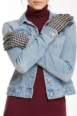 Houndstooth Gloves - Just Jamie