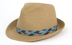 Two Tone Braided Band Fedora