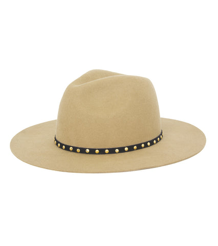 Gold Studded Felt Panama Hat