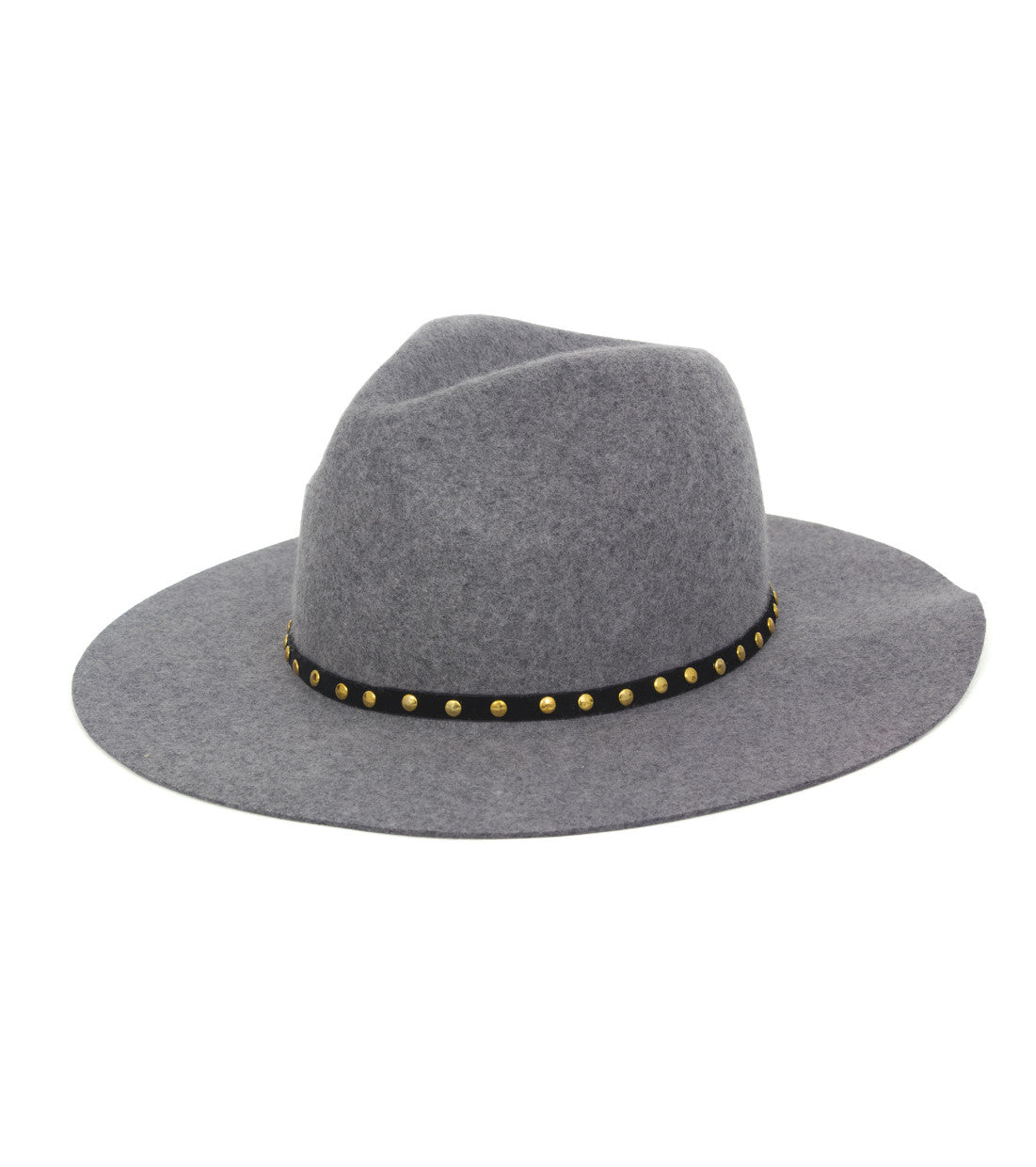Gold Studded Felt Panama Hat - Just Jamie