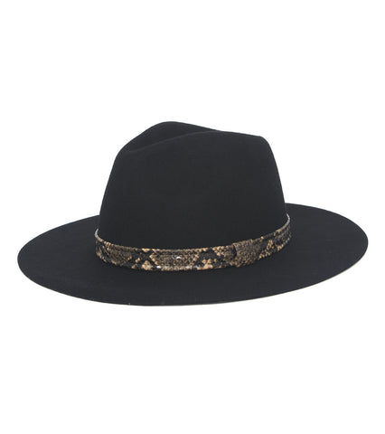 Solid Hat with Snake Band