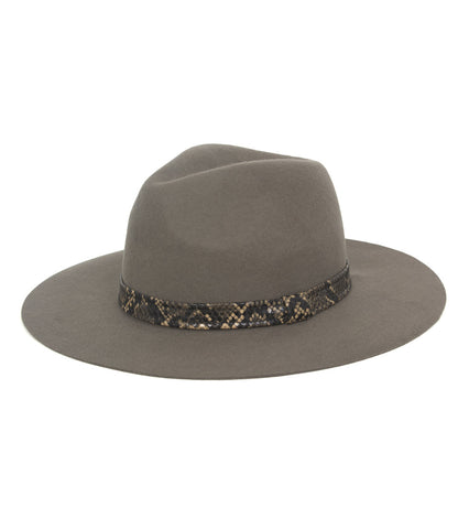 Solid Hat with Snake Band - Just Jamie