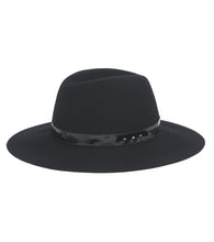Load image into Gallery viewer, Felt Panama Hat with Patent Band - Just Jamie