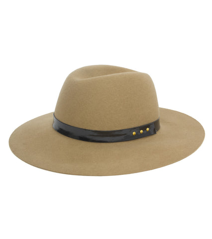 Felt Panama Hat with Patent Band - Just Jamie
