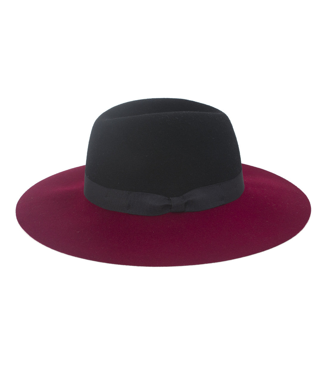 Two Tone Hat with Bow - Just Jamie