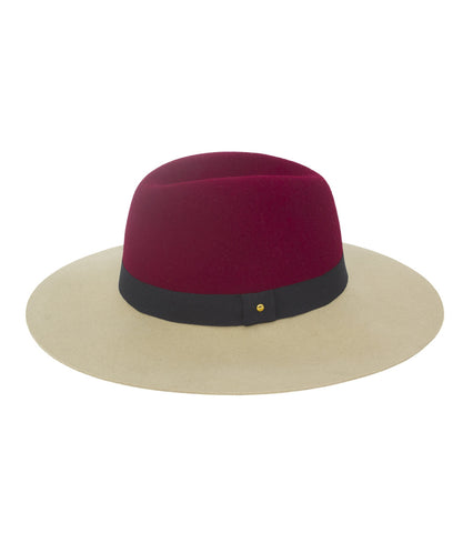 Felt Two Tone Panama Hat - Just Jamie