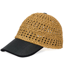 Cap - Straw and Solid Brim