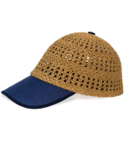 Cap - Straw and Solid Brim - Just Jamie