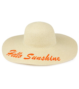 Hello Sunshine Straw Floppy Hat - Just Jamie