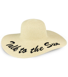 Talk To The Sun Straw Floppy Hat - Just Jamie
