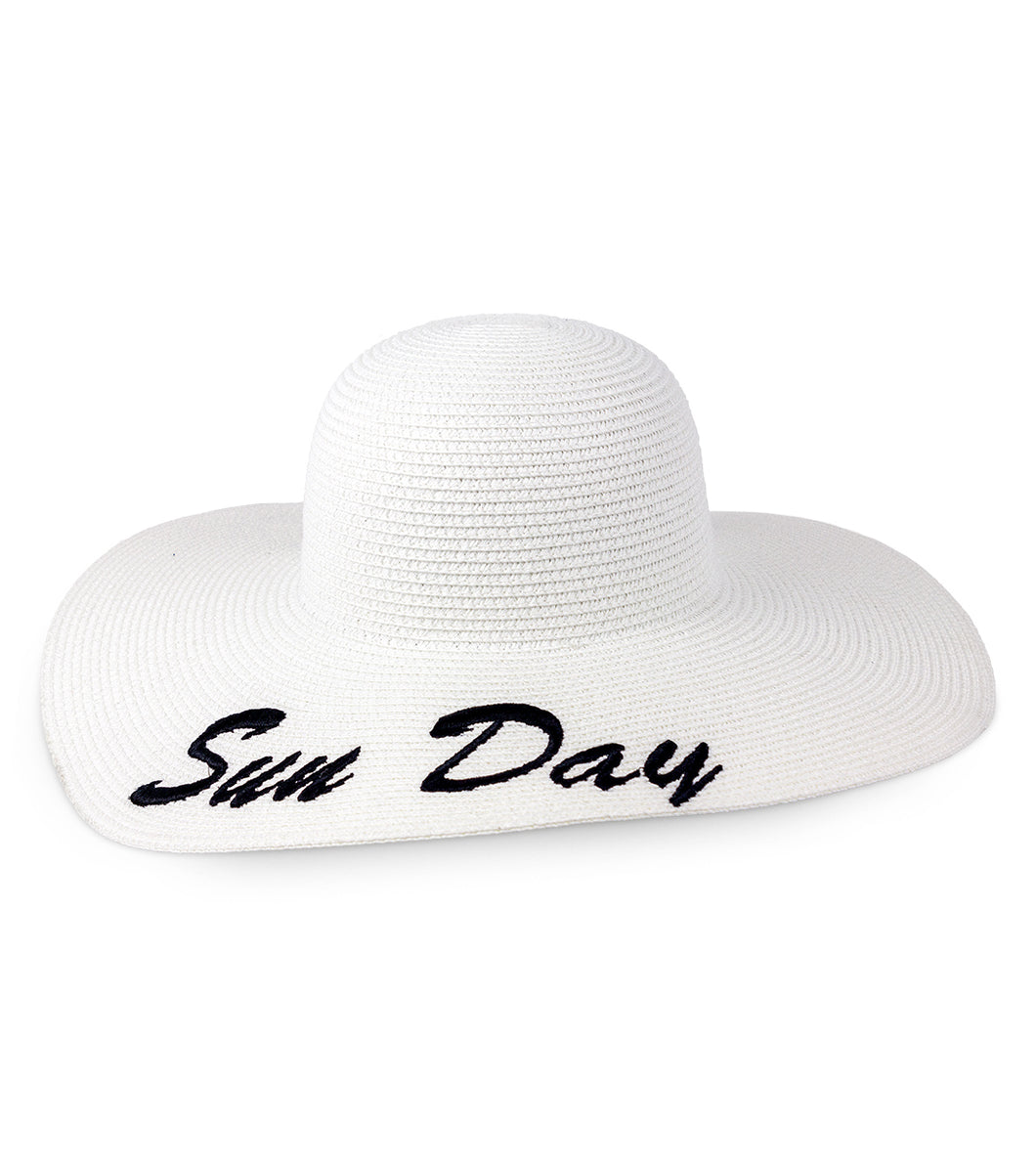 Sun Day Straw Floppy Hat - Just Jamie