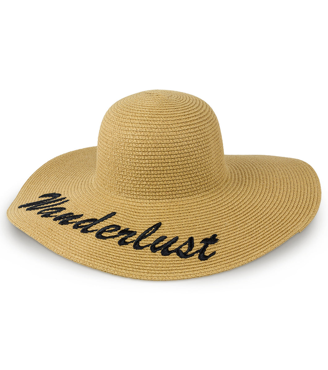 Wanderlust Straw Floppy Hat - Just Jamie
