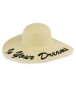 In Your Dreams Floppy Straw Hat - Just Jamie