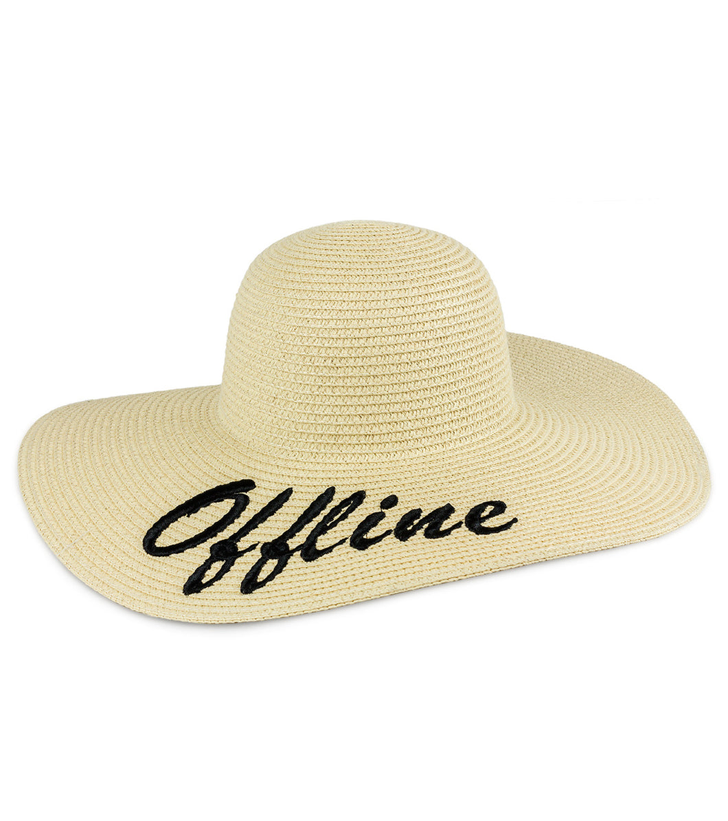 Offline Straw Floppy Sun Hat - Just Jamie