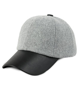 Felt Cap with PU Brim - Just Jamie
