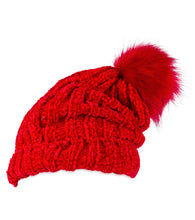 Load image into Gallery viewer, Solid Slouchy Chenille hat with Pom Pom - Just Jamie