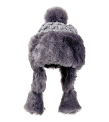 Solid Knit and Faux Fur Hat - Just Jamie