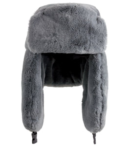 Solid Faux Fur Trapper - Just Jamie