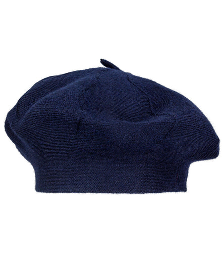 Solid Knit Beret Hat - Just Jamie