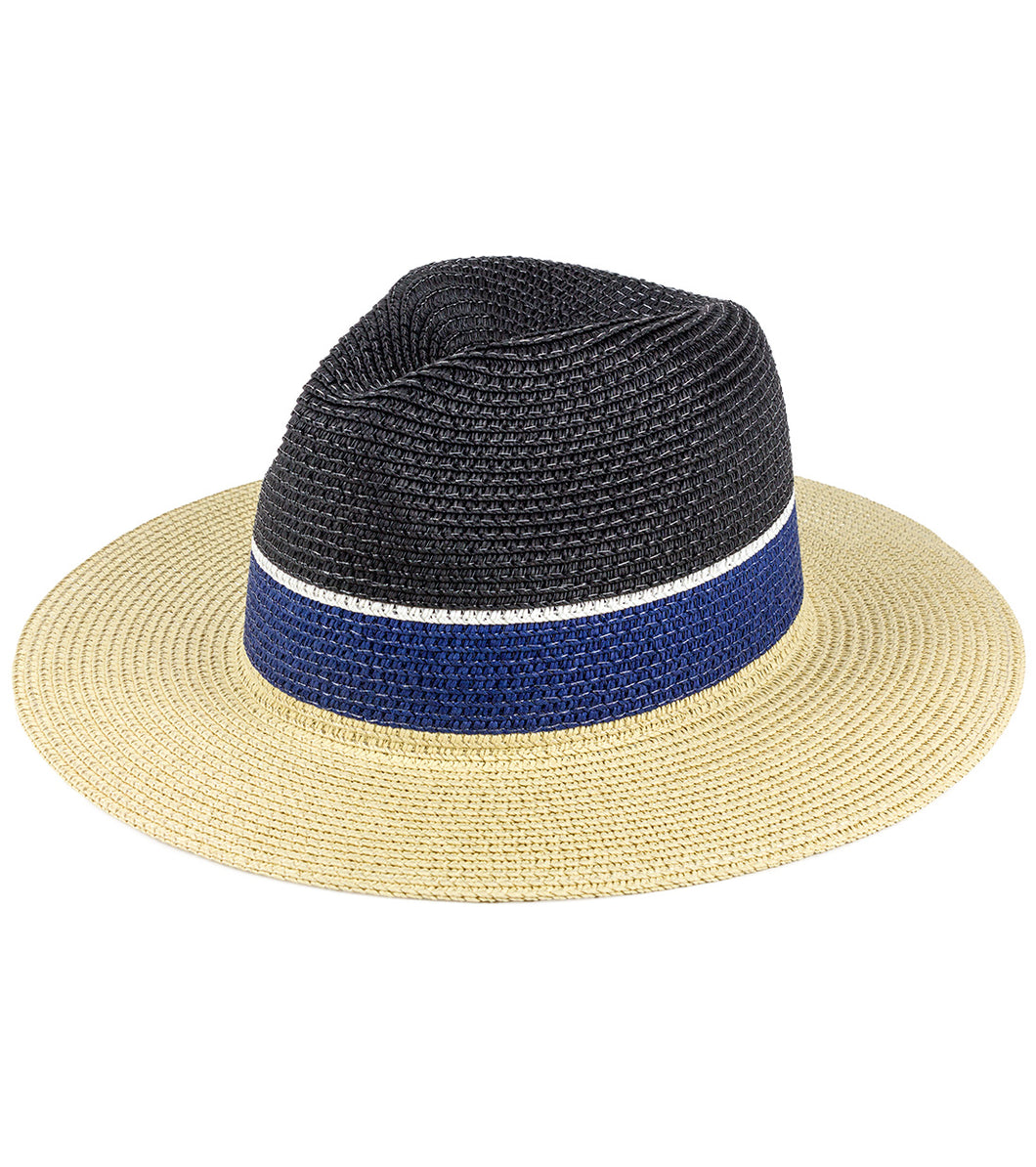 Colorblock Panama Hat - Just Jamie