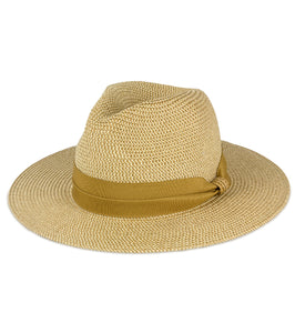 Tonal Straw Panama Hat - Just Jamie