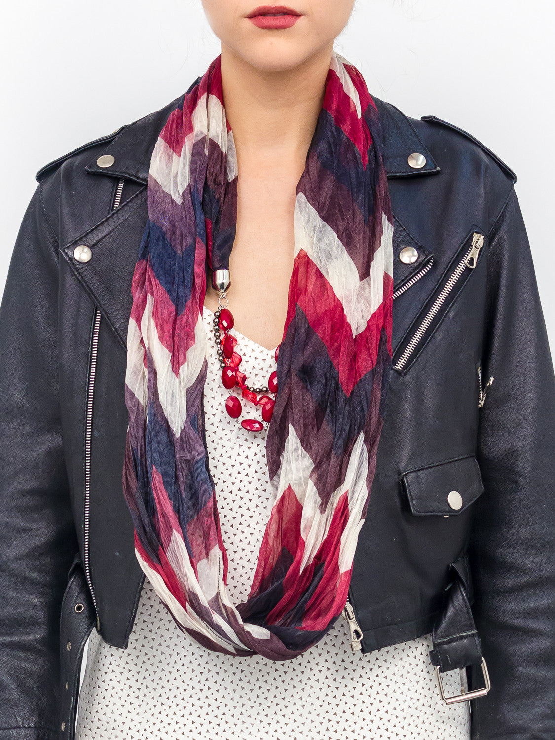 Jewelry V Stripe Scarf