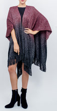Load image into Gallery viewer, Cashmere Feel Ombre Ruana with Lurex - Just Jamie