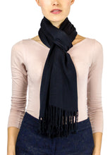 Load image into Gallery viewer, Solid Viscose Pashmina Shawl with Fringes - Just Jamie