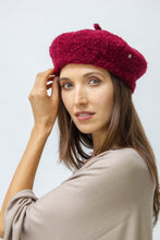 Load image into Gallery viewer, Solid Sherpa Beret Hat - Just Jamie