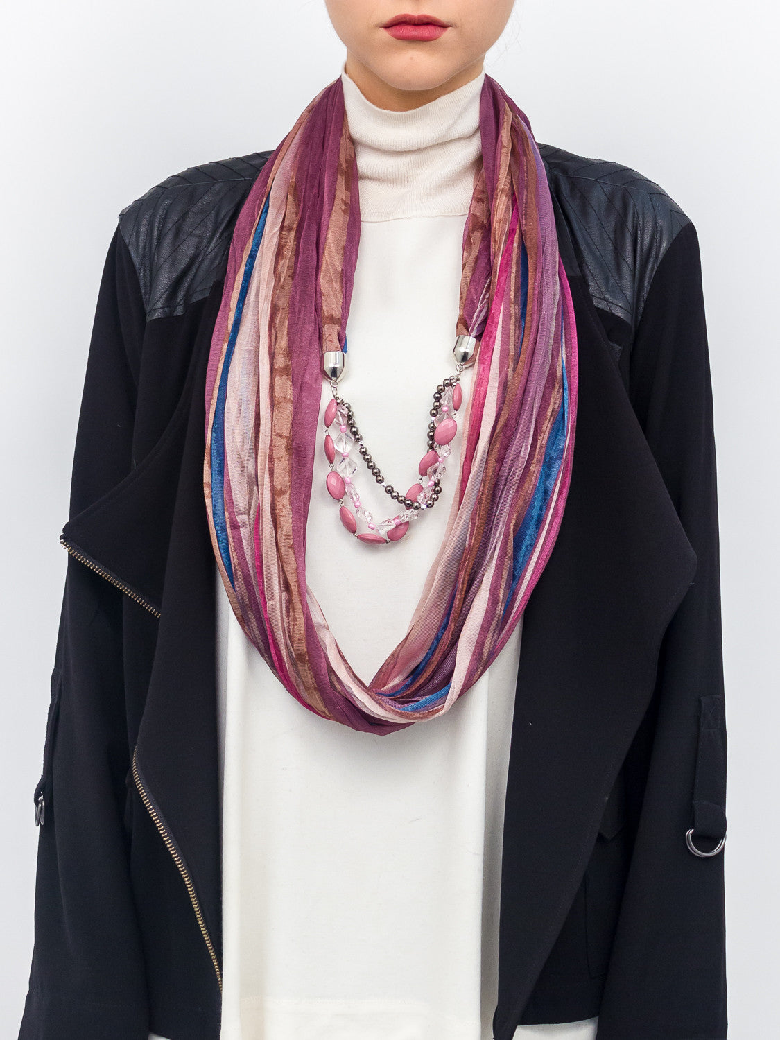 Jewerly Watercolor Stripe Scarf - Just Jamie